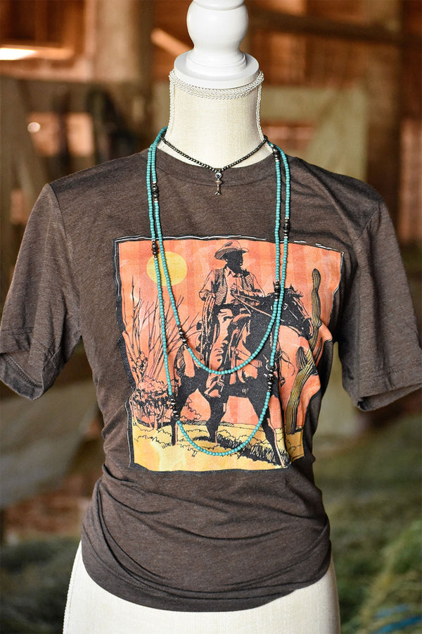 The Sunset Cowboy Tee