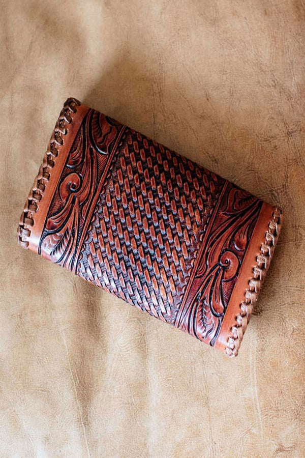 Retro Style Tooled Wallet