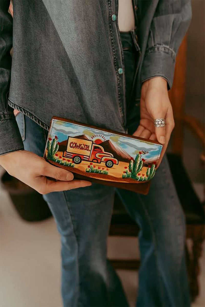 Painted Cowgirl Wallet
