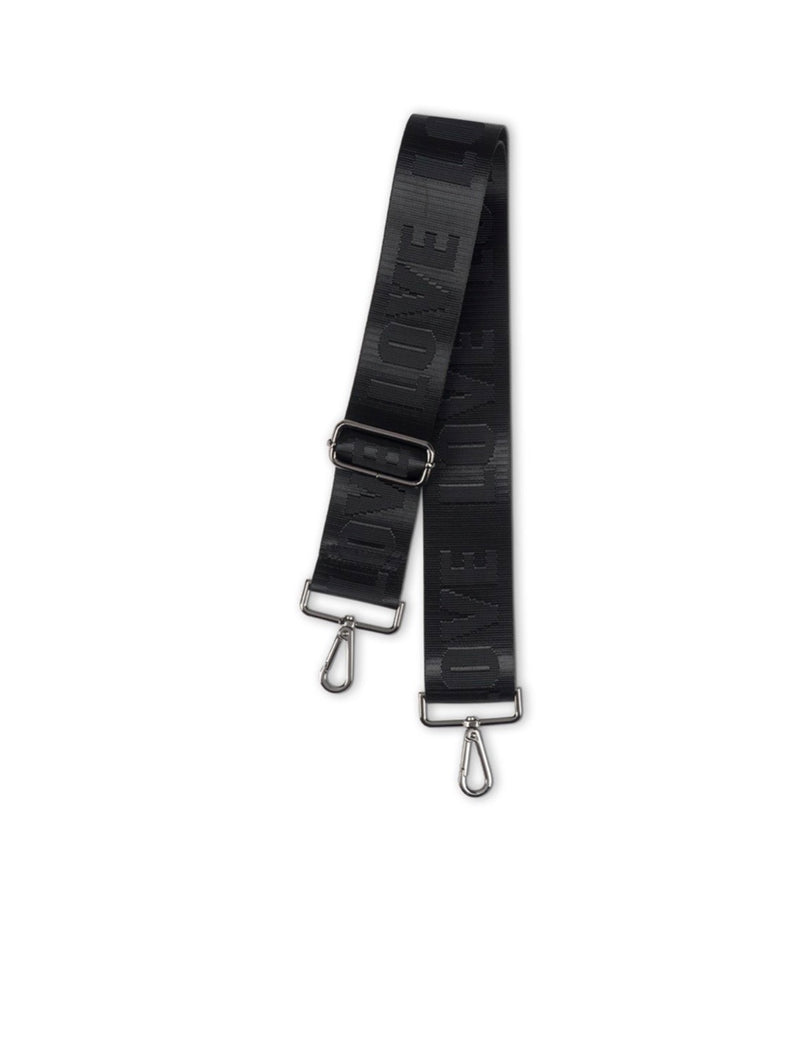 Black/Black Love Adjustable Bag Strap