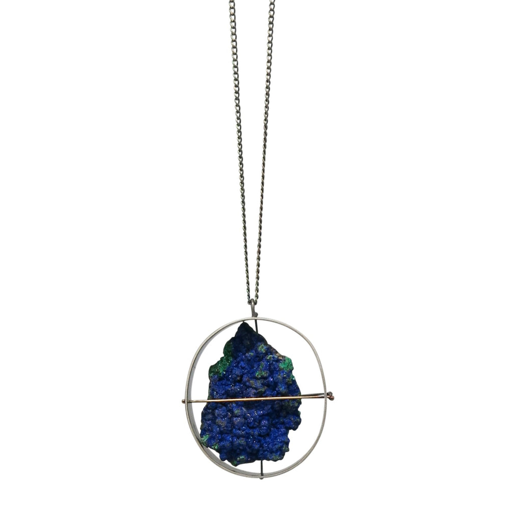 Load image into Gallery viewer, Captured Azurite Necklace