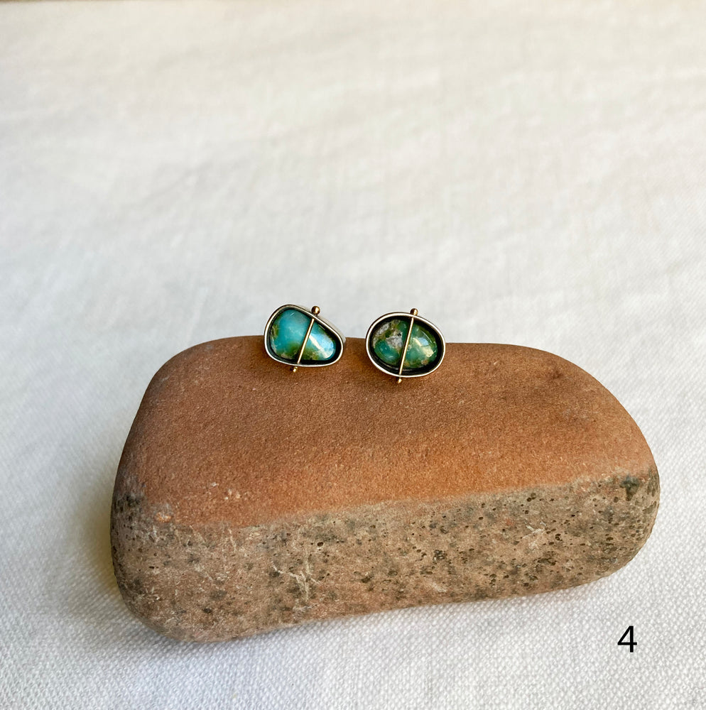 Captured Turquoise Studs