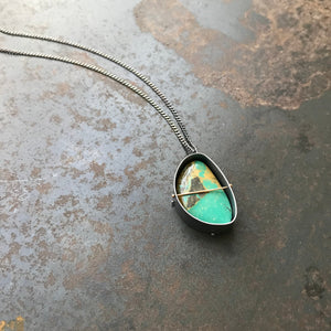 Captured Tyrone Turquoise Necklace (the Longer)