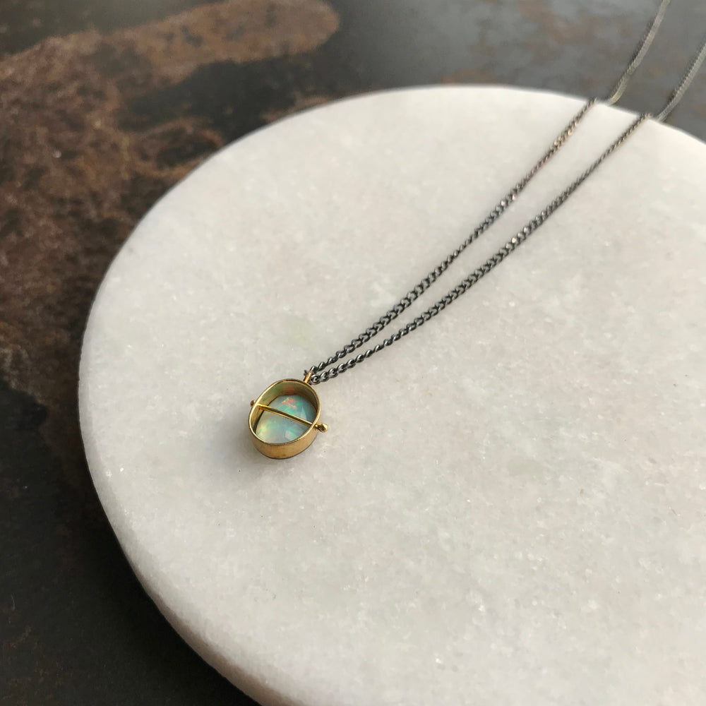 Captured Opal Necklace