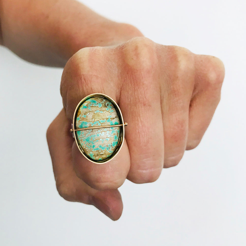 Captured Carico Turquoise Cocktail Ring