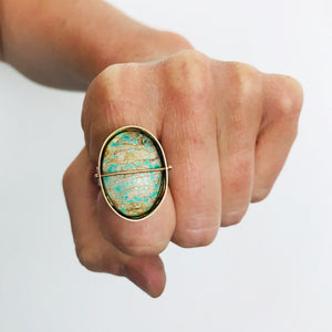 Captured Carico Lake Turquoise Cocktail Ring