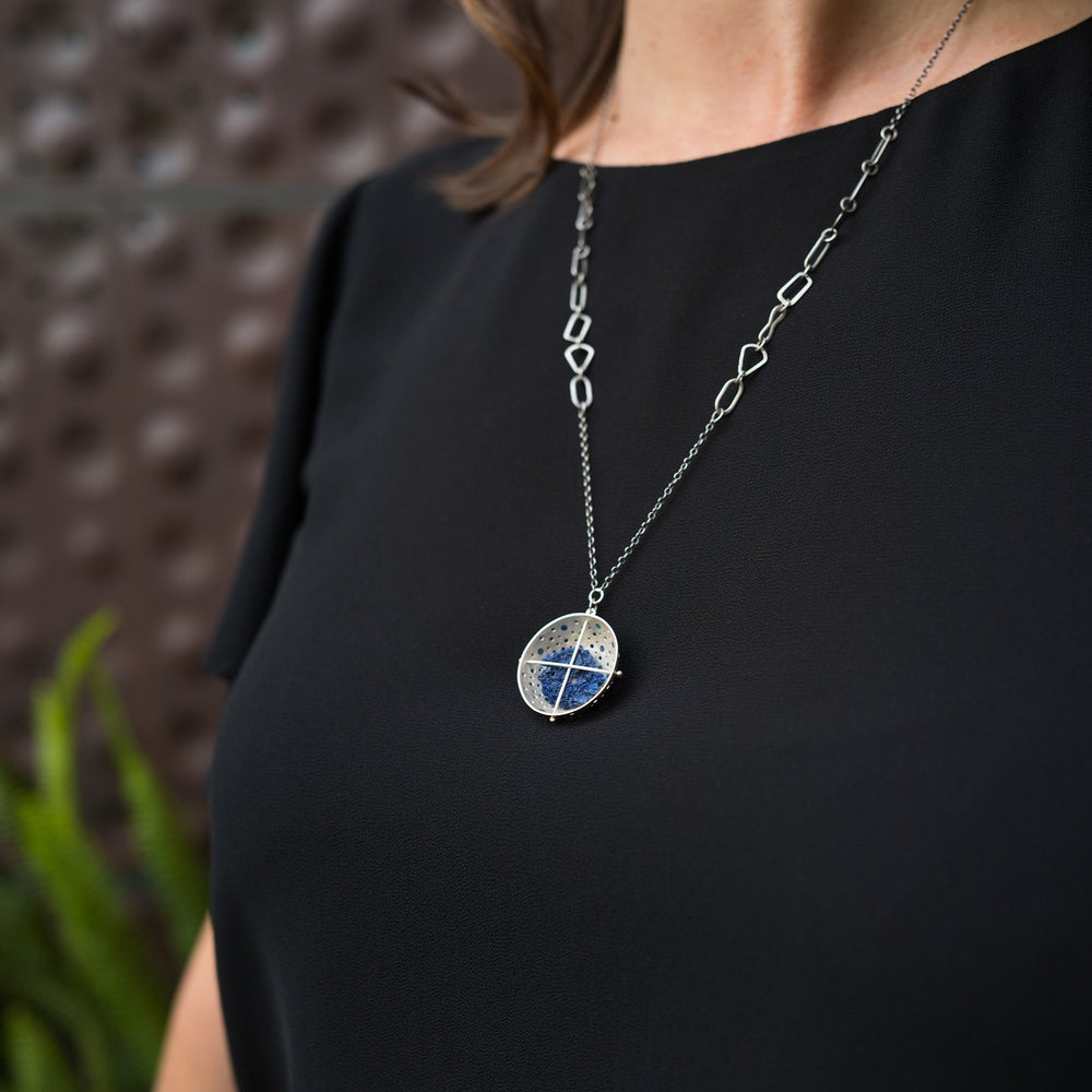 Captured Azurite Necklace