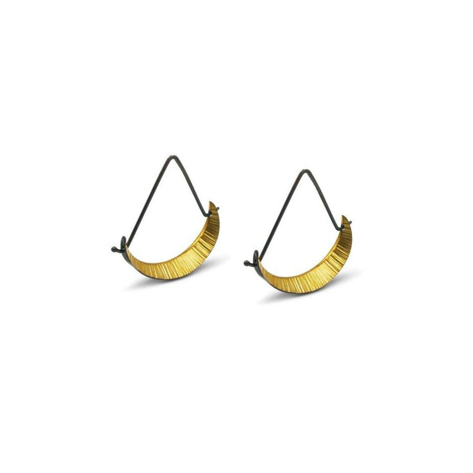 Crescent Triangle Hoops - Mini