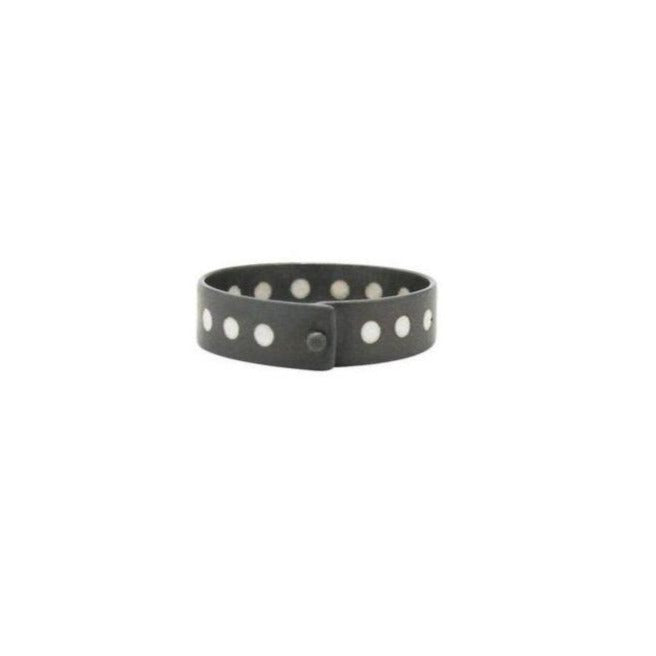 Load image into Gallery viewer, Black and White Enamel Collar Ring