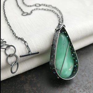 Captured Chrysoprase Necklace