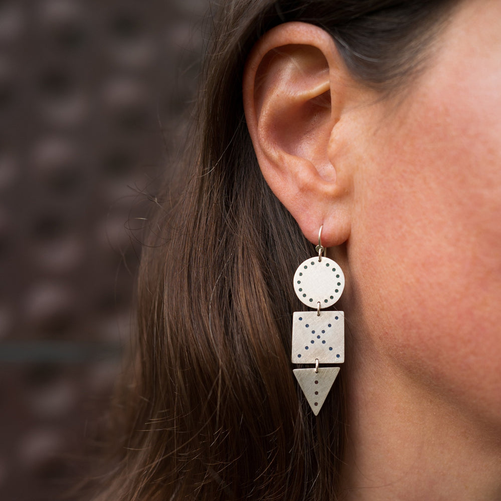Plique Shapes Earrings