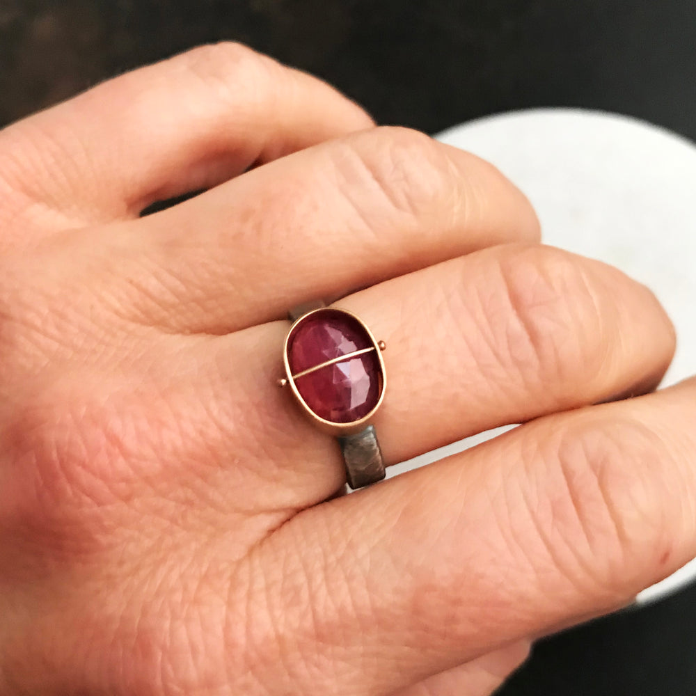 Captured Ruby Ring