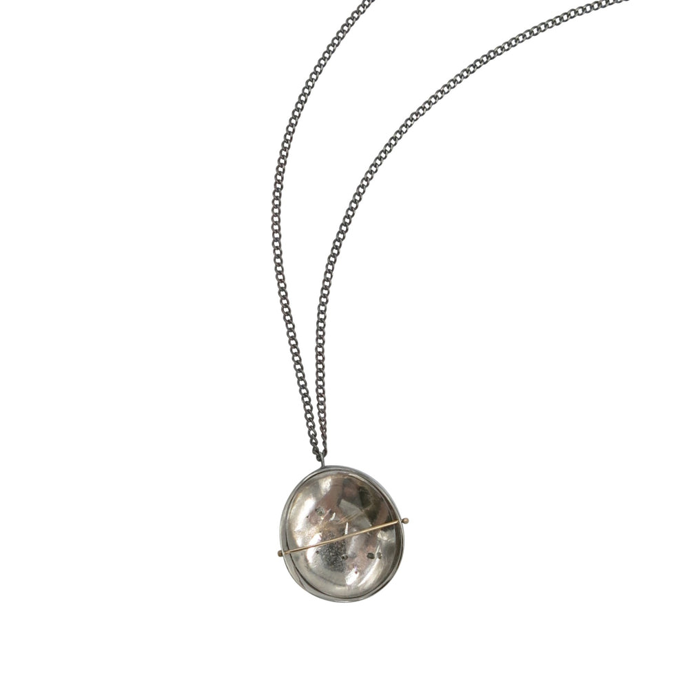 Captured Pyrite in Quartz Necklace