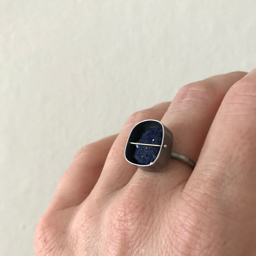 Captured Morrocan Azurite Ring