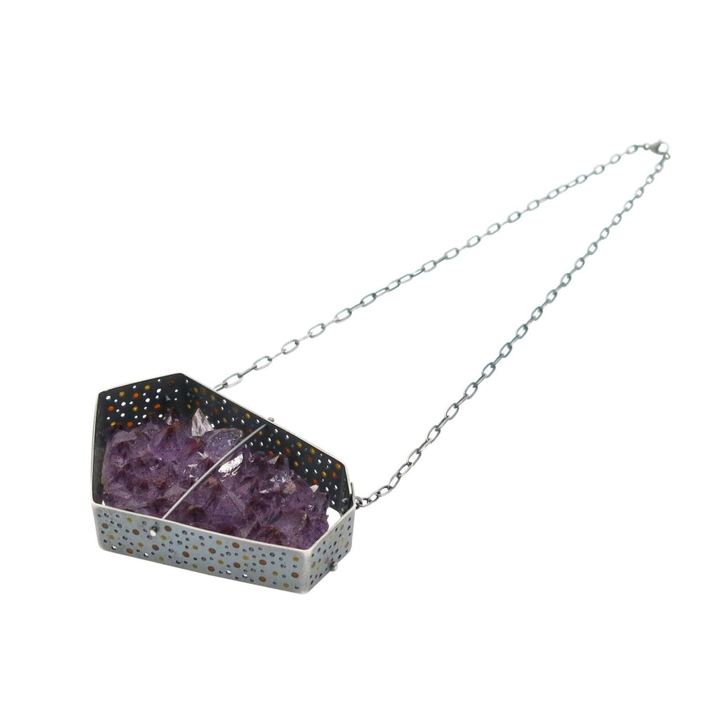 Captured Amethyst Cluster Necklace