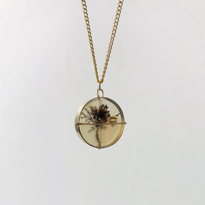 Captured Dendritic Agate Bouquet Necklace