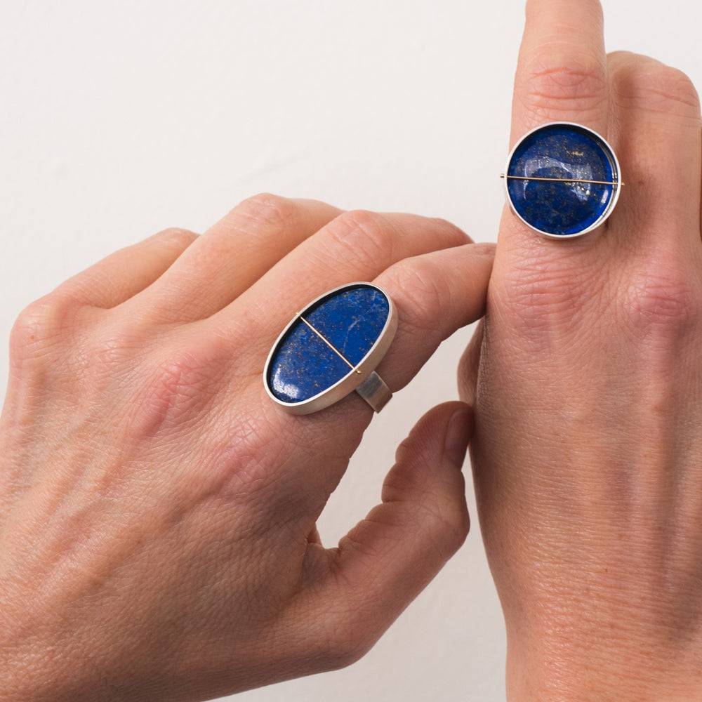 Oval Lapis Cocktail Ring