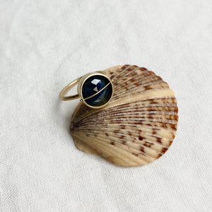 Captured Blue Sapphire Ring