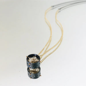 Load image into Gallery viewer, Captured Rutilated Quartz Solitaire Necklace