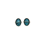 Captured Blue Moon Turquoise Stud Earrings
