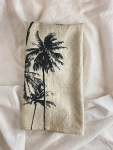 Palm Linen Tea Towel
