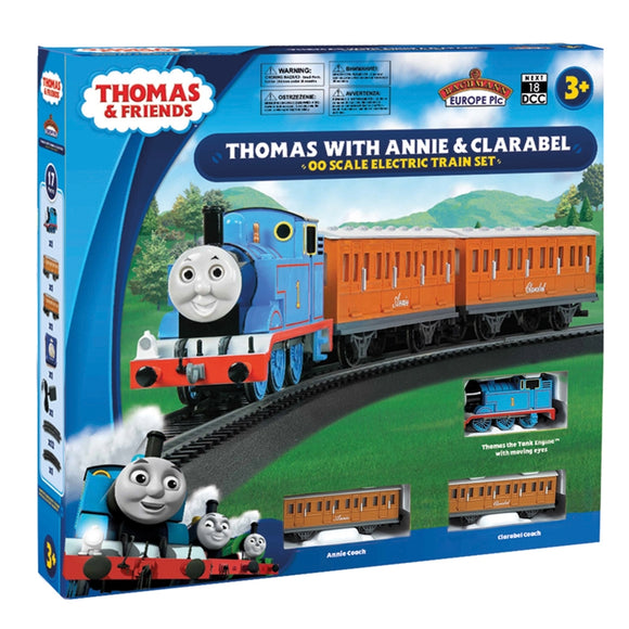 Thomas The Tank Engine Series - Thomas with Annie and Clarabel Train Set - Moving eyes DCC Ready - Chester Model Centre