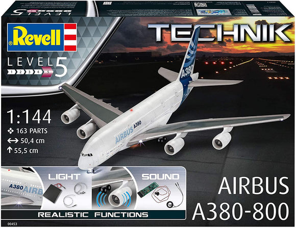 Revell 00453 1/144 Technik Airbus A380-800 with Lights & Sound - Chester Model Centre