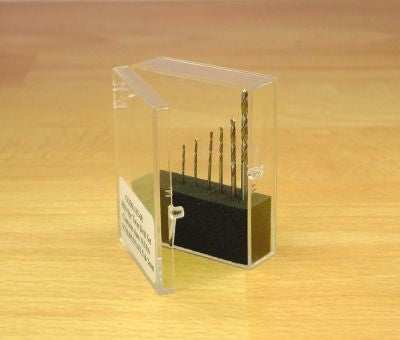 8PC DRILL SET 0.3 - 1.0MM