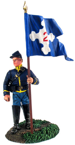 Union 2nd Corps Flagbearer Dismounted No.1 - Chester Model Centre