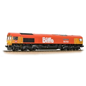 Bachmann 32-741 Class 66/7 66783 'The Flying Dustman' GBRf 'Biffa' Red