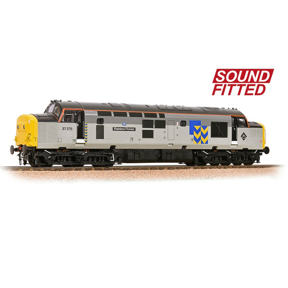 32-778RJSF Bachmann Rep Area Special -  DCC Sound 37275 Stainless Pioneer BR Railfreight Livery