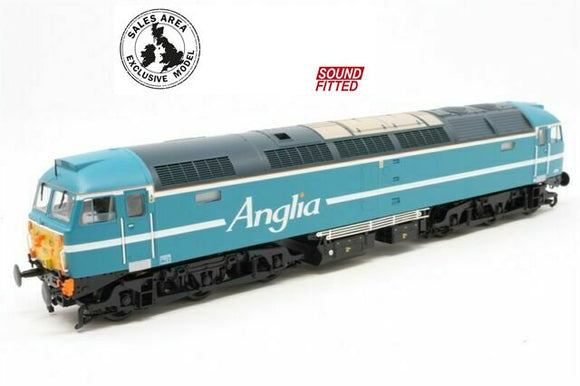 Bachmann 32-817SDDS Class 47 47714 Anglia Blue Regional Exclusive Model (DCC Sound) - Chester Model Centre