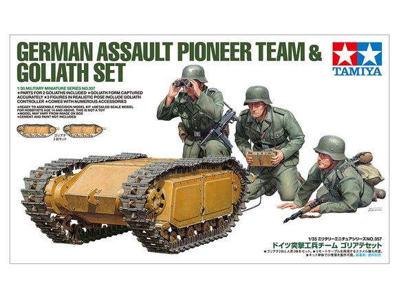 German Assault Pioneer Team & Goliath Set - Chester Model Centre