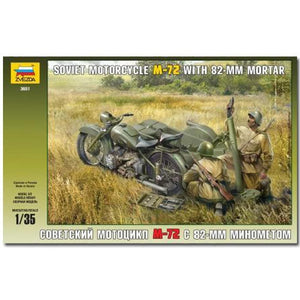 Soviet Motorcycle M-72 & Mortar - ChesterModelCentre