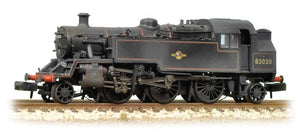 BR Standard Class 3MT Tank 82029 BR Lined Black Late Crest Weathered - Chester Model Centre