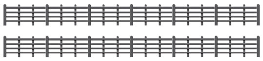Lineside Fencing Black (4 bar) - Chester Model Centre