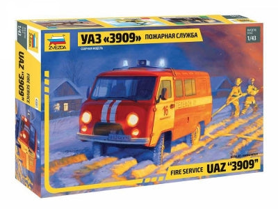 Fire Service UAZ '3909' - Chester Model Centre