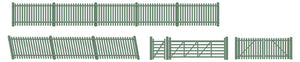 Picket fencing green (inc. Gates & ramps) - ChesterModelCentre