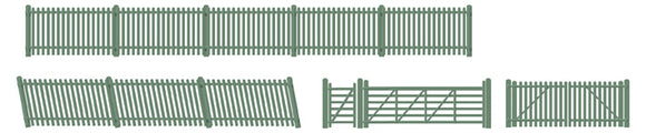 Picket fencing green (inc. Gates & ramps) - Chester Model Centre