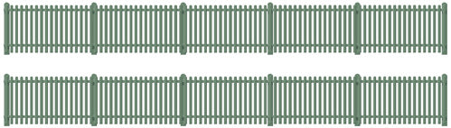Picket fencing green (straight only) - Chester Model Centre