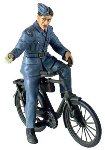RAF Ground Crewman on Bicycle - 2 Piece Set - Chester Model Centre