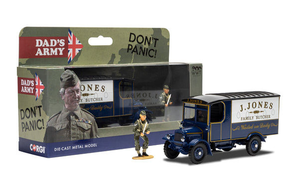 Corgi CC09003 Dads Army J Jones Thornycroft van and Mr Jones Figure - Chester Model Centre