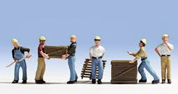 Workers with Pallets (6) - Chester Model Centre