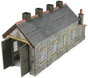 PN932 N SCALE STONE SINGLE TRACK ENGINE SHED