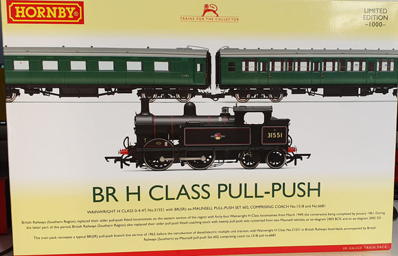 Hornby R3512 Wainwright H Class 0-4-4T 31551 Pull-Push Train Pack - Limited Edition - ChesterModelCentre