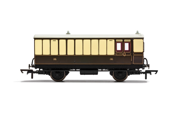 GWR, 4 Wheel Coach, Brake Baggage, 1411 - Era 2/3 - Chester Model Centre