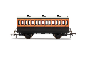 LSWR, 4 Wheel Coach, 3rd Class, Fitted Lights, 302 - Era 2 - Chester Model Centre