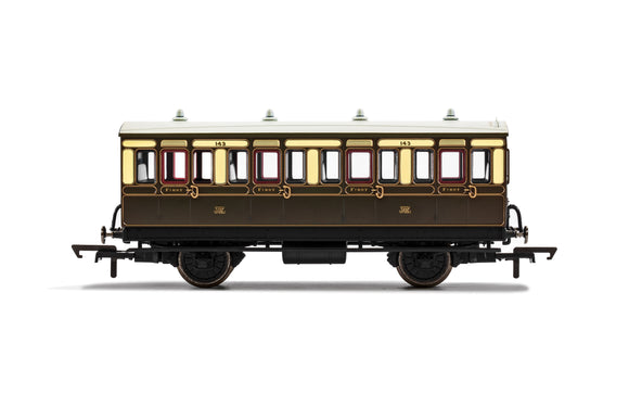 GWR, 4 Wheel Coach, 1st Class, Fitted Lights, 143 - Era 2/3 - Chester Model Centre