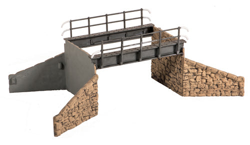 Occupational Bridge & Stone Abutments  Single Track - Chester Model Centre