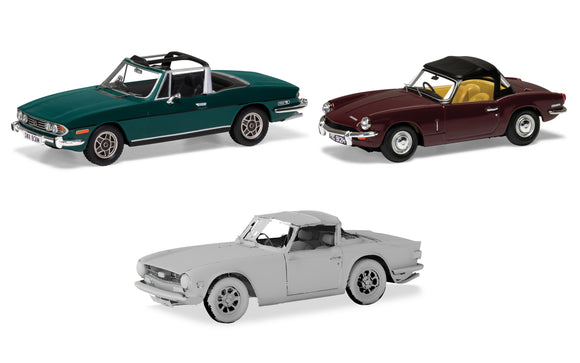 Sporting Triumph collection. Stag, Spitfire TR6. - Chester Model Centre